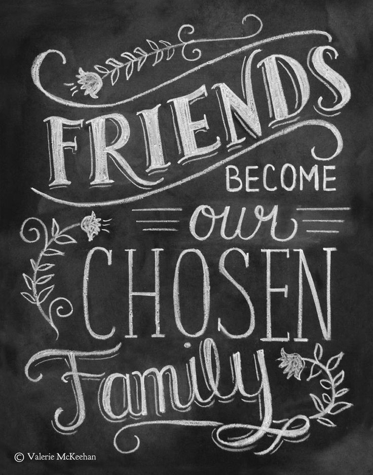 friends become chosen family