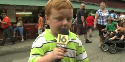 They Put This Little Kid On TV After a Ride at an Amusement Park – The News Woman Never Expected His Reaction
