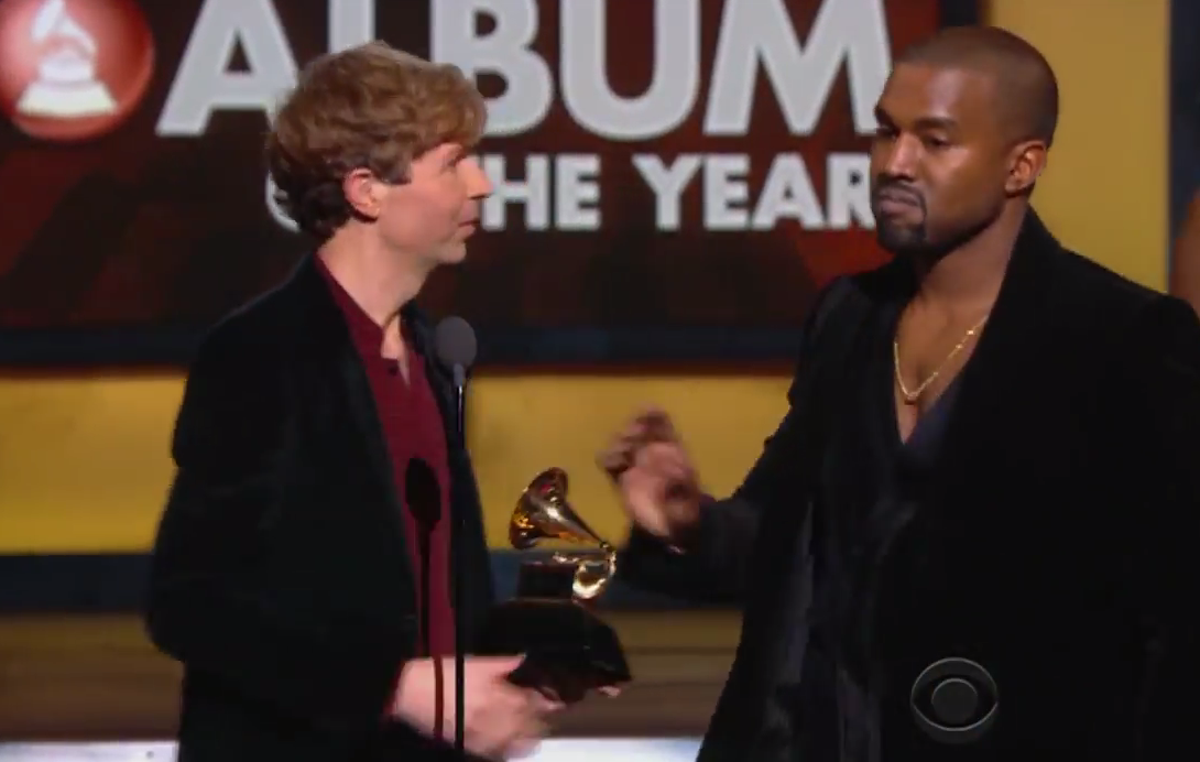 Kanye ALMOST crashed Beck's acceptance speech. But what he said afterwards is what's SHOCKING