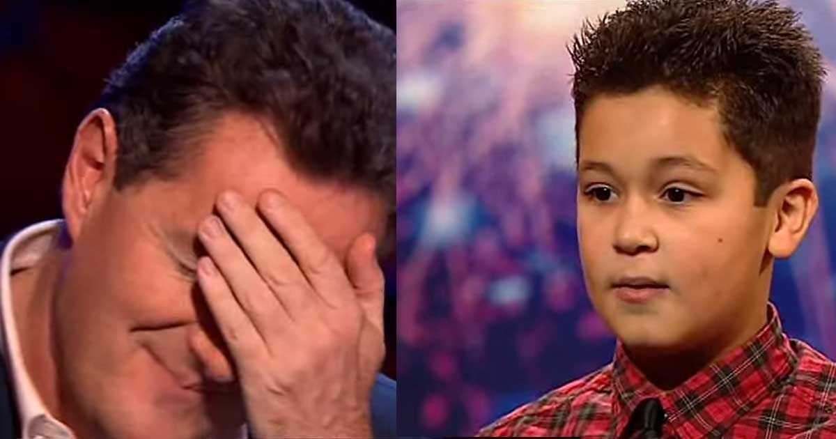 9 Year Old Boy Starts Singing, But Simon Cowell Stopped Him. Watch What Happened Next