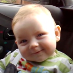 Cute Baby Fights Hard Not To Fall Asleep, When He Does His Reaction Is Priceless