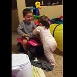 How Elijah Encourages His Baby Sister To Walk Will Melt Your Heart!
