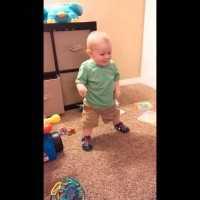 WATCH as This Little Boy Discovers His New Shoes Make Sounds and Can't Hide His Excitement