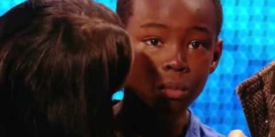 9 Year Old Boy Cries During His Audition, But When He Starts Singing… WOW