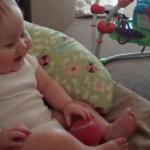Adorable Baby Girl Laughing While Playing With Her Dog – Priceless