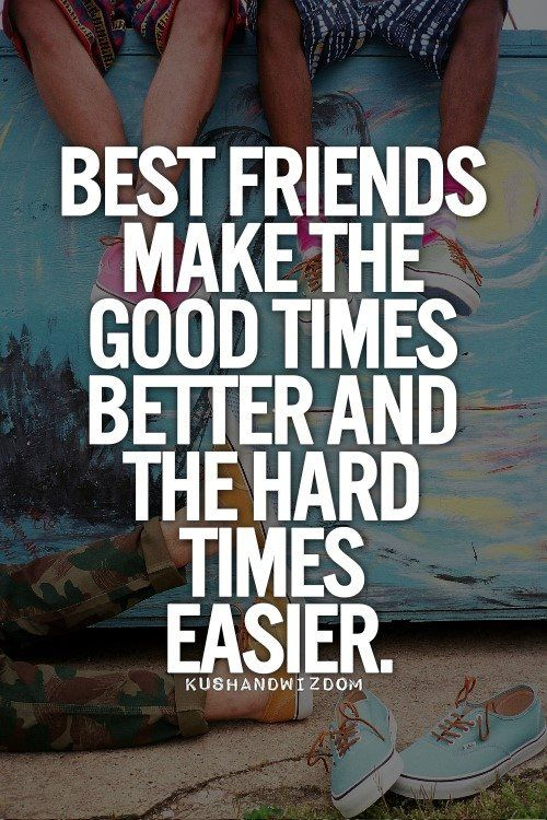 friends make hard times easier